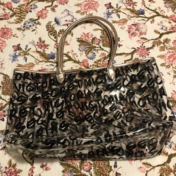 Victoria's Secret Handbags - See-through Victoria secrets tote bag